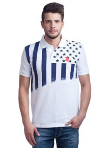 Trendy Bandey 1201 White Men T-Shirt