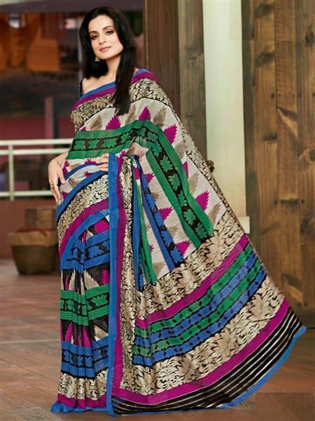 Brijrajs 11418 Multicolored Saree