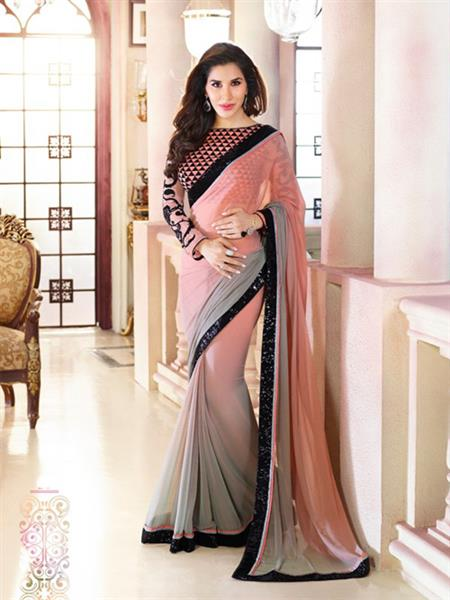 Brijraj Fashions 20-S Brown Saree