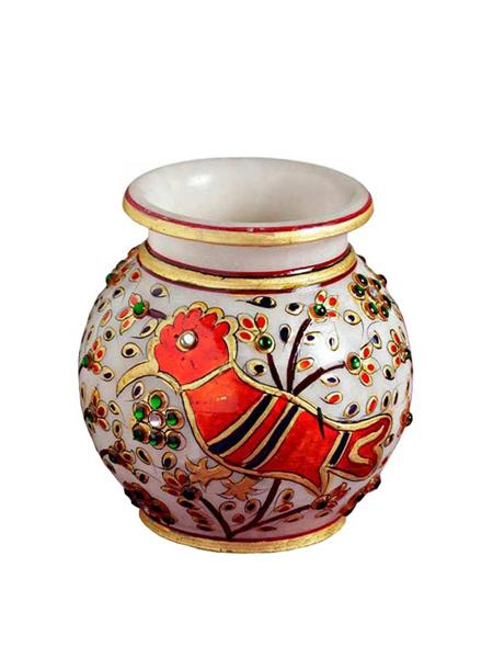 Chitrahandicraft Multicolor  Marble Vases