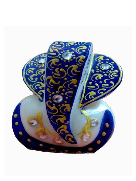 Chitrahandicraft Multicolor  Marble Blue Ganesh