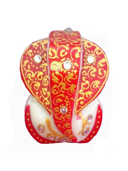 Chitrahandicraft Multicolor  Marble Red Ganesh