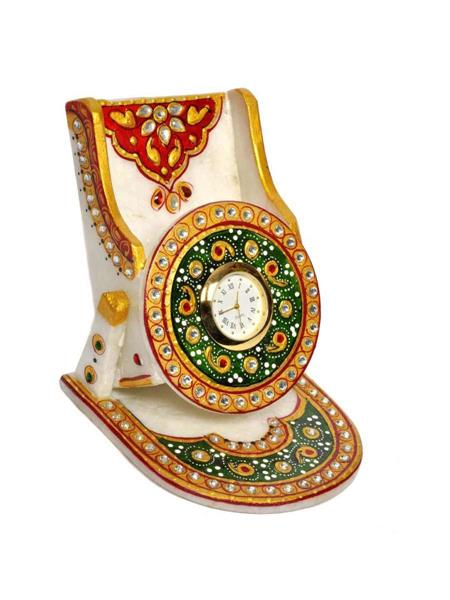 Chitrahandicraft Multicolor  Marble Mobile Stand