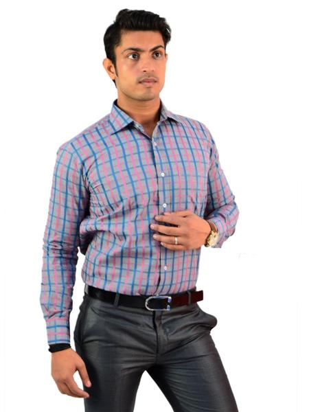 Western Closet WC05 Multicolored Men Formal Shirt