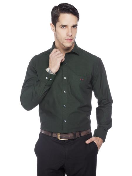 Crimsoune Club MA3662 Green Formal Shirt