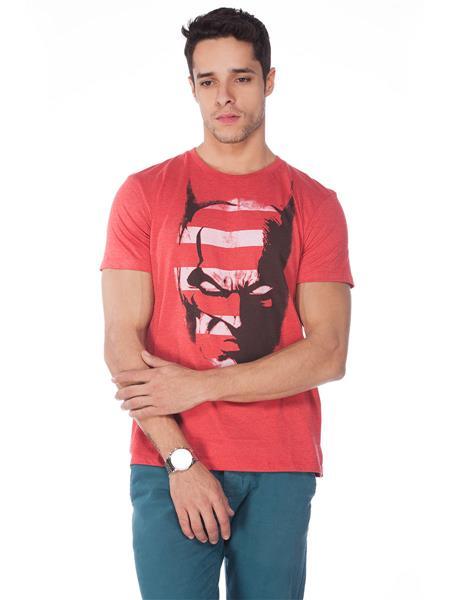 DC COMICS BM1CMT406 Red Men T-Shirt