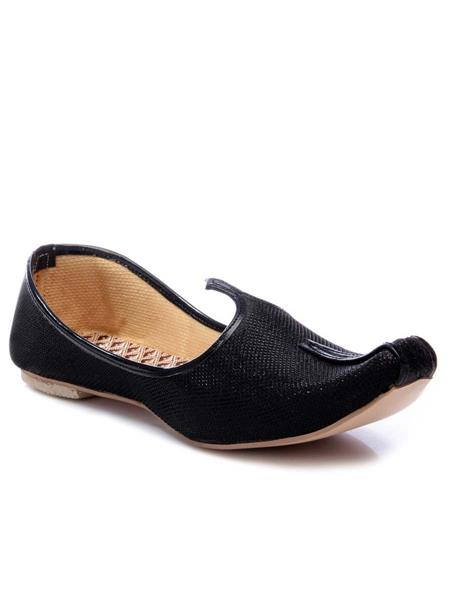 Foot Clone FC-071 Black Men Ethnic Jutti