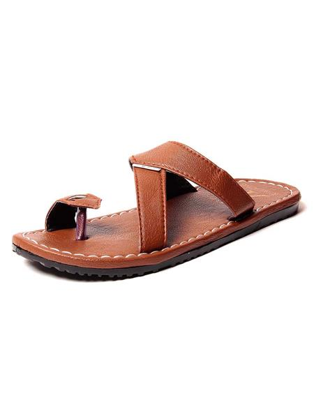 Foot Clone FC-115 Brown Men Slippers