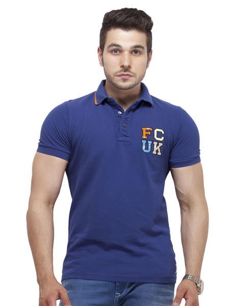 FCUK 56DUL Blue Men T-Shirt