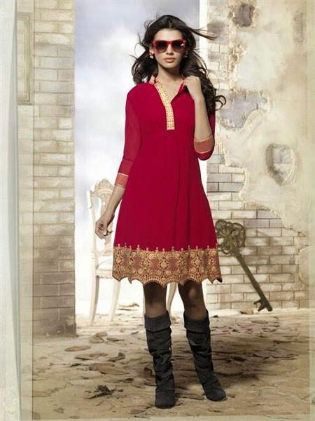 Fiona_F-D-04 Red Women Dress