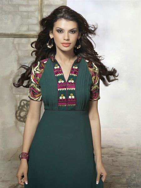 Fiona F-D-18 Green Women Dress