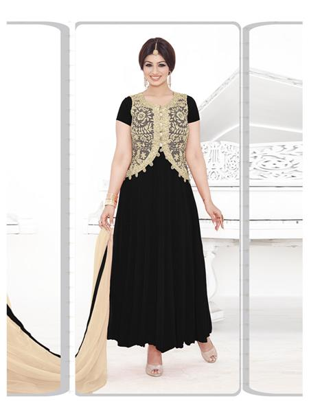 Fabkaz Fka107-161 Black Women Salwar Suit