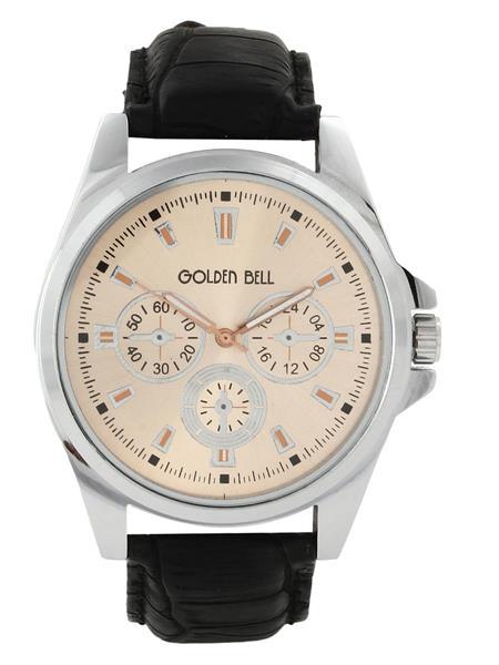 Golden Bell GB-0016CoDBlkStrap Brown Men Analog Watch