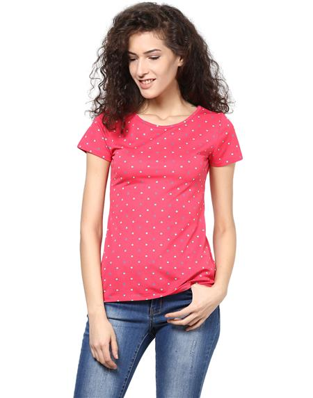 Kaxiaa K-TO-21051B Pink Women Top