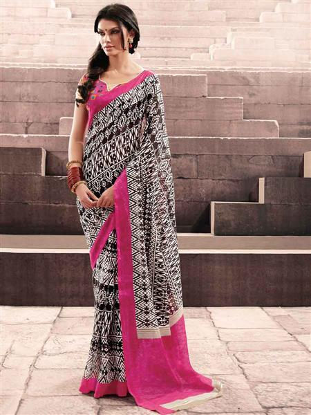 LT Fabrics 20022 Black Saree