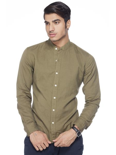 Levis 18457-0013 Green Casual Shirts