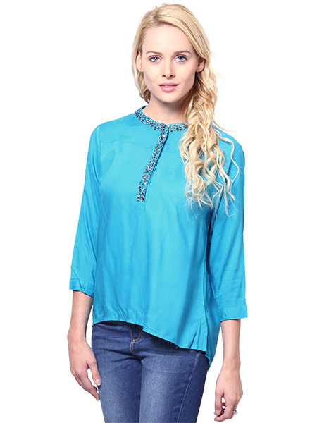 Rose Vanessa  RS 087 Trendy Blue Stone Top