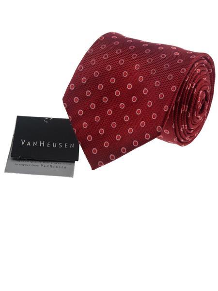 VanHeusen VH097 Red  Mens NeckTie