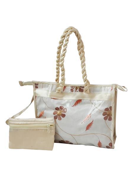 Fashionista NM203 White Women Hand Bag