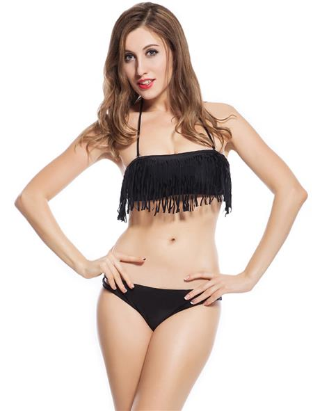 N-Gal Originals NY3050-Black Black Women Swim Wear