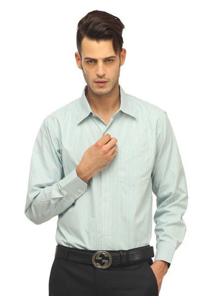 Olive Garden O-24 Green Formal Shirt