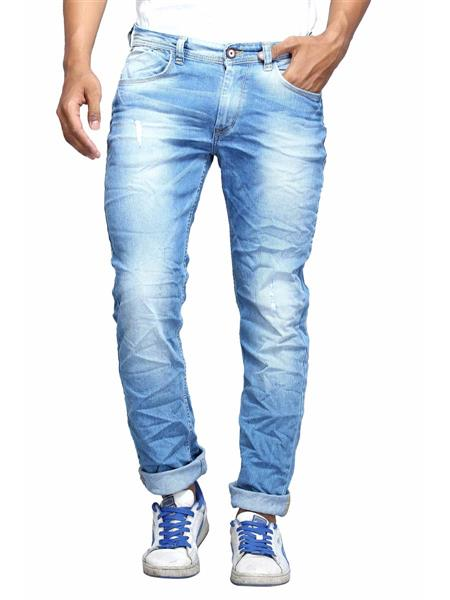 Spykar RO-S15-10 Blue Narrow Fit Men Jeans