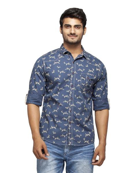 Spykar Ranger-S15-05 Blue Men Casual Shirt