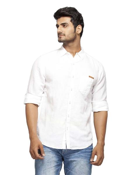 Spykar Ranger-S15-20 White  Men Casual Shirt
