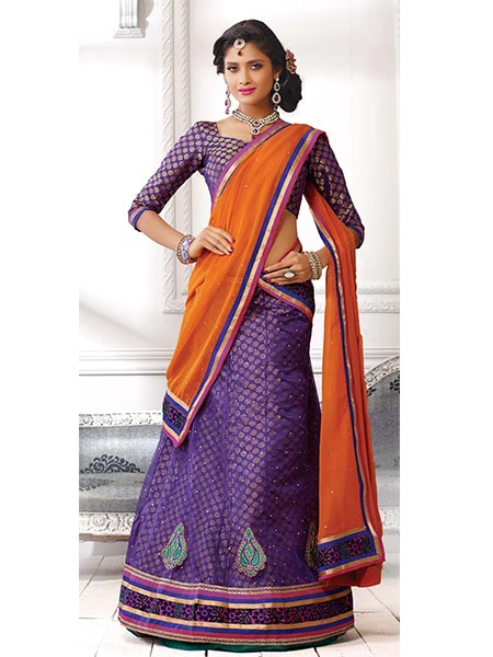 Suchi Fashion SFJAG90196 Purple Women Lehenga Choli