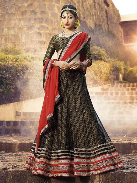 Suchi Fashion SFJAG90251 Black Women Lehenga Choli