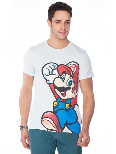 Super Mario MT1CNI07 White Men T-Shirt