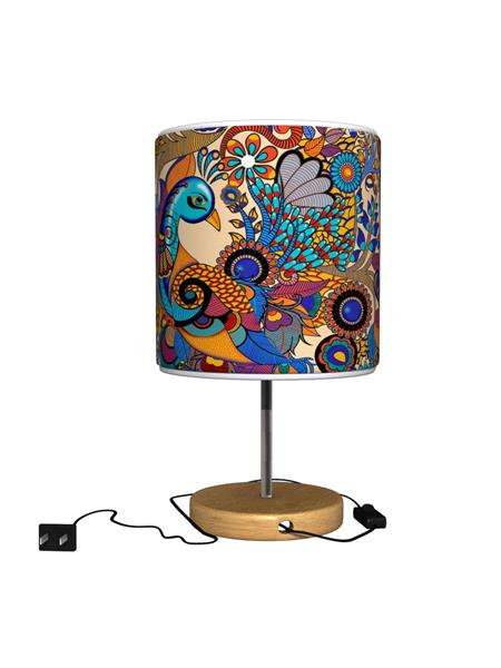 Kolorobia TLMPP10 Colorful Peacock Table Lamp