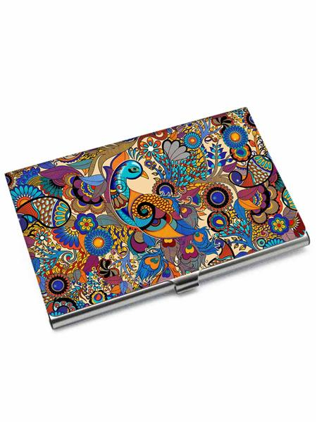 Kolorobia VCHP19 Peacock Colorful Card Holder