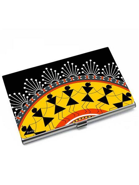 Kolorobia VCHW05 Ethnic Warli Visiting Card Holder