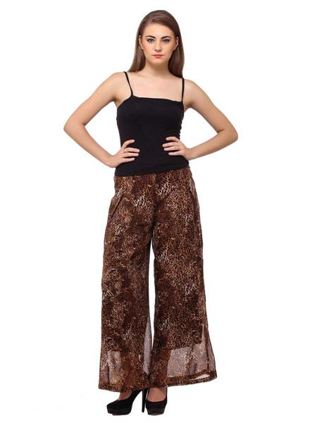 Diva DV40 Brown Women Plazzo Pants