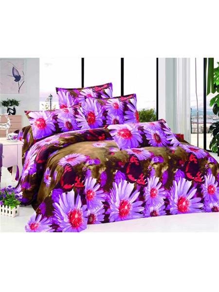 Durend Wonder DWB22 Purple Double BedSheet