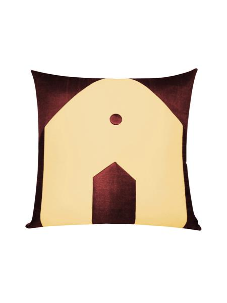 ZIKRAK EXIM ZE5436 Hut Design Beige N Brown Cushion Covers  40X40 Cms _Pack Of 1_