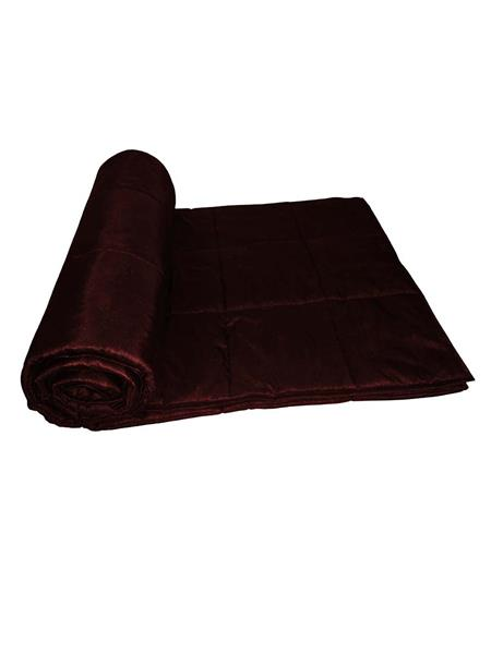 ZIKRAK EXIM ZEQLTQUEN132 Reversible Square Quilted Dark Brown Quilt 230 X 250 Cms