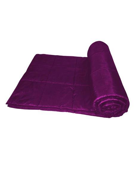 ZIKRAK EXIM ZEQLTQUEN137 Reversible Square Quilted Lavender Quilt 230 X 250 Cms