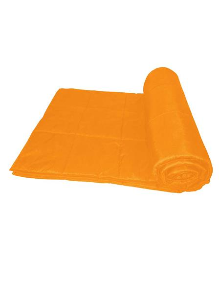 ZIKRAK EXIM ZEQLTQUEN138 Reversible Square Quilted Orange Quilt 230 X 250 Cms