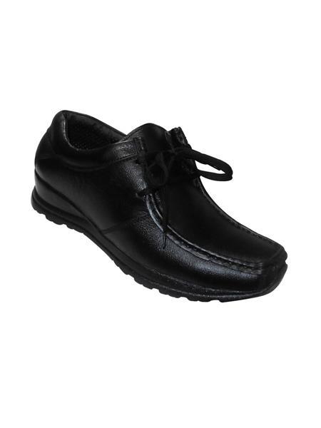 Zikrak Exim ZESH25 Black Genuine Leather Stylish Casual Shoes Style 25