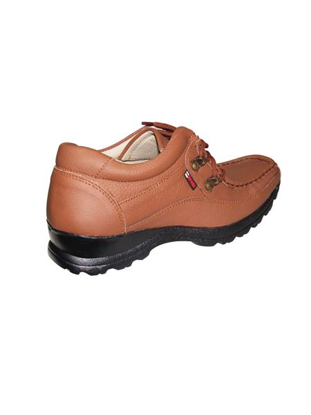 Zikrak Exim ZESH37M Tan Genuine Leather Stylish Lace Casual Shoes