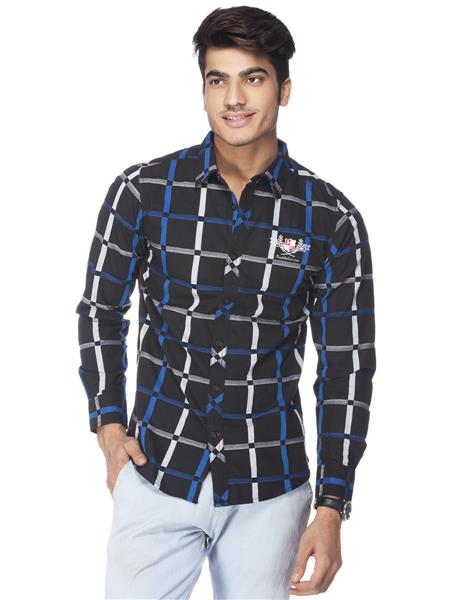 Spykar  S14-30 Black Mens CasualShirt