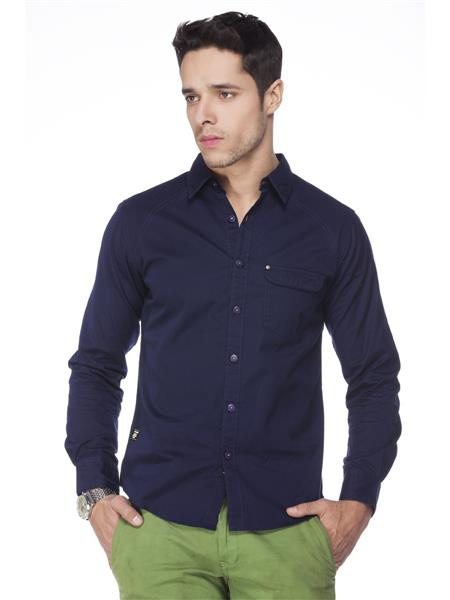 Spykar  S14-52 Blue Mens Casual Shirt