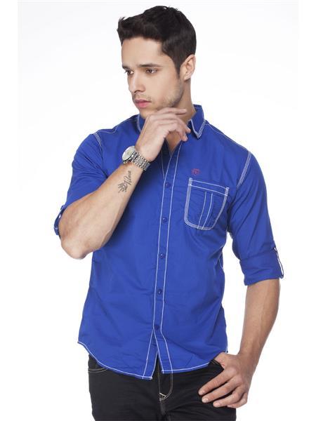Spykar  S14-06 Blue  Mens Casual Shirt