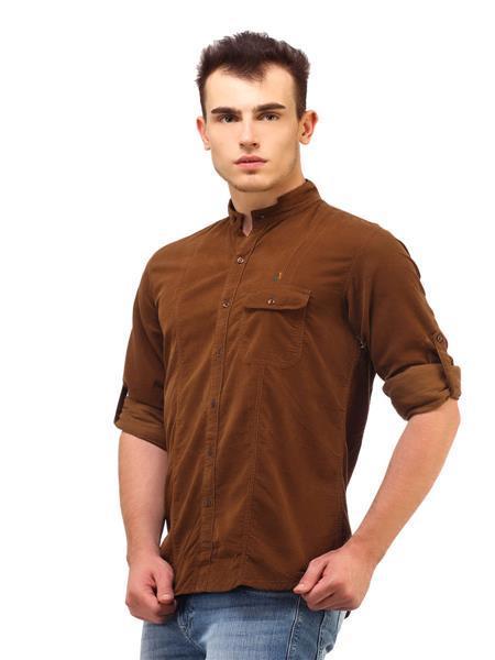 Apris S2957D Brown Men Casual Shirt