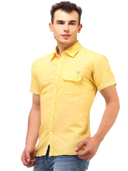 Apris S2839 Yellow Men Casual Shirt