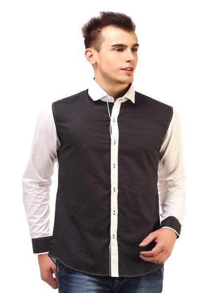 Apris S2957 Black Men Casual Shirt