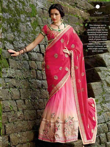 Adaa_Fashions SA-102 Noor Pink Saree