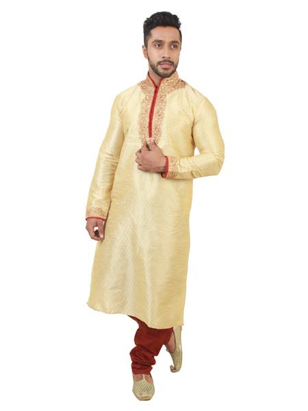 Swarnam  2034 Golden   Mens Ethnic Wear